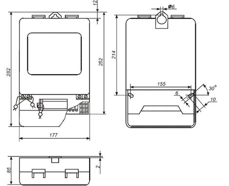ЦЭ6850М - Счетчик электроэнергии трехфазный многотарифный микропроцессорный универсальный